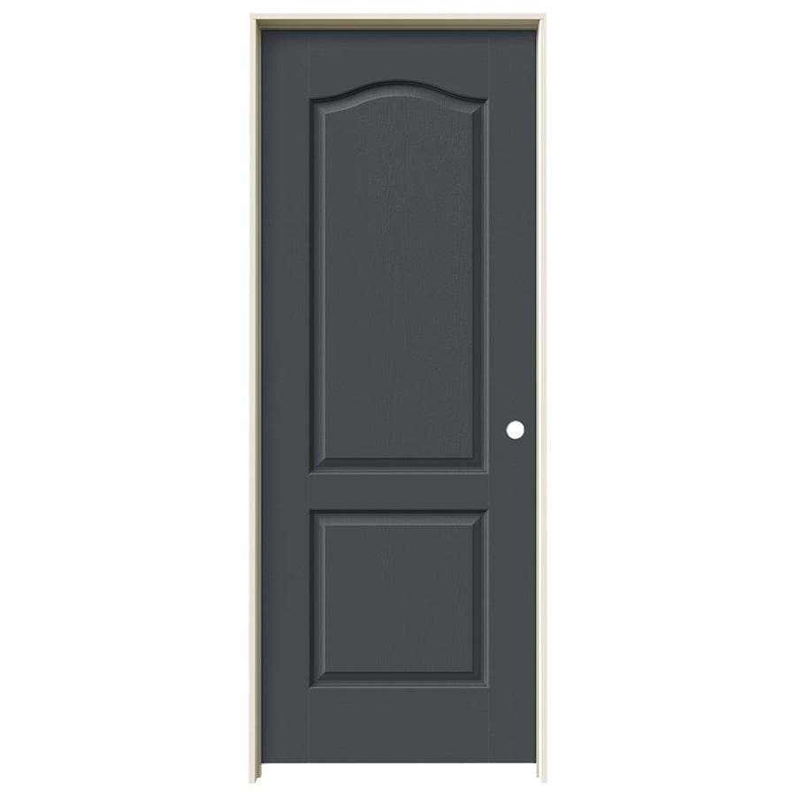 Shop Jeld Wen Slate 2 Panel Arch Top Single Prehung Interior Door Common 32 In X 80 In Actual