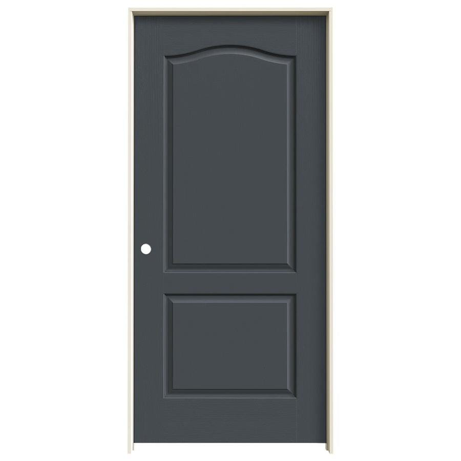 JELD-WEN Slate 2-panel Arch Top Single Prehung Interior Door (Common: 36-in x 80-in; Actual: 37.562-in x 81.688-in)
