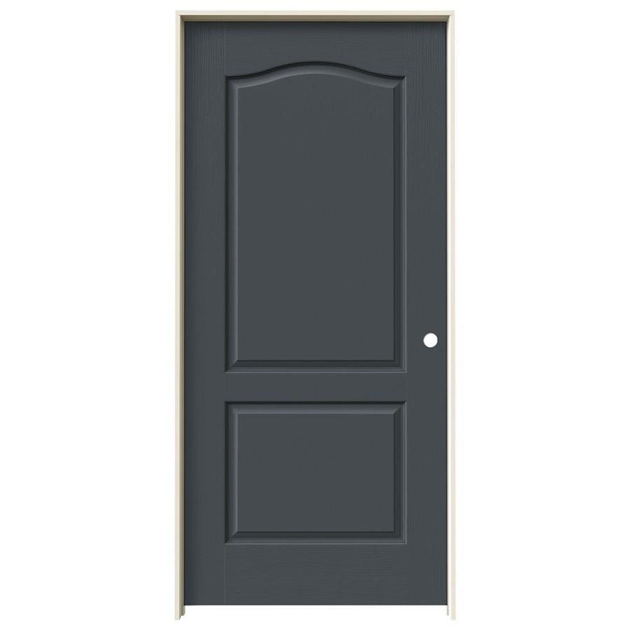 JELD-WEN Slate 2-panel Arch Top Single Prehung Interior Door (Common: 36-in x 80-in; Actual: 37.562-in x 81.688-in)