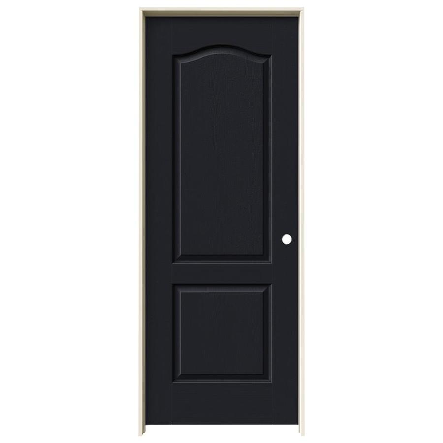 JELD-WEN Camden Midnight Hollow Core Molded Composite Single Prehung Interior Door (Common: 24-in x 80-in; Actual: 25.562-in x 81.688-in)