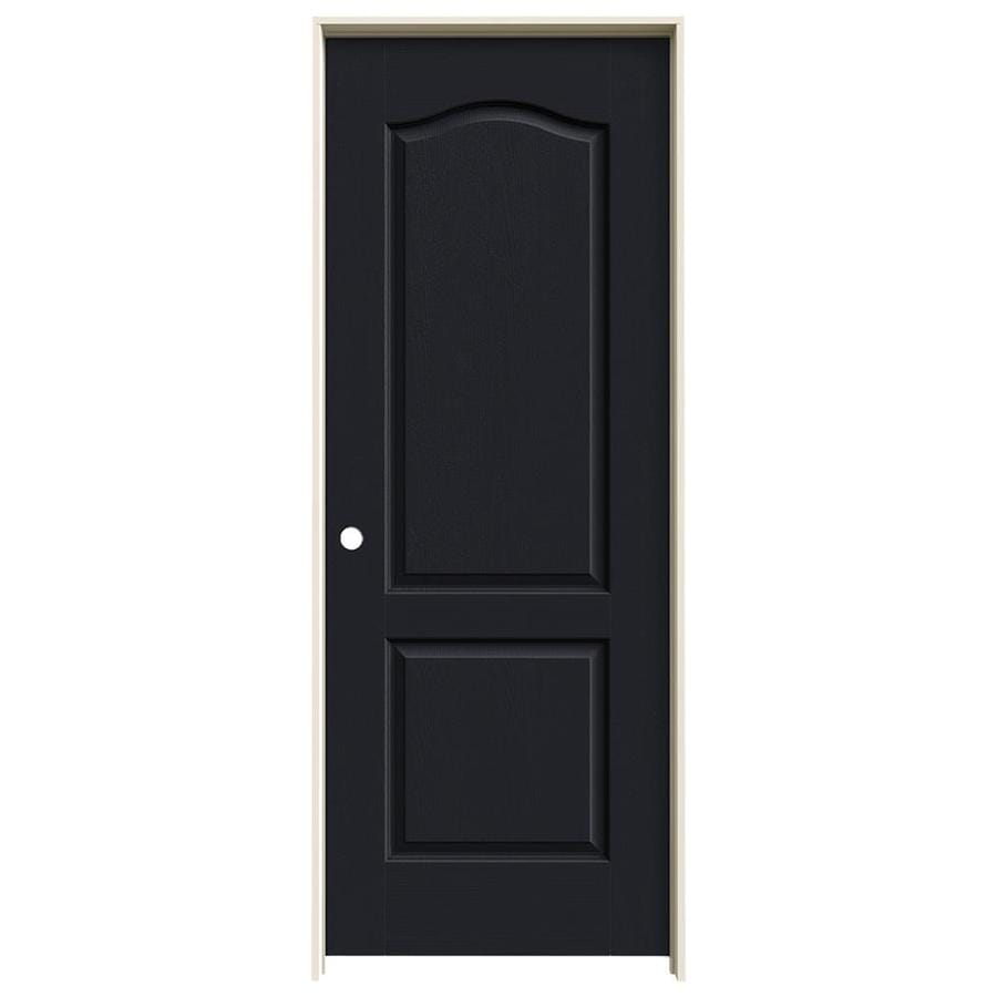 JELD-WEN Midnight Prehung Hollow Core 2-Panel Arch Top Interior Door (Common: 28-in x 80-in; Actual: 29.562-in x 81.688-in)