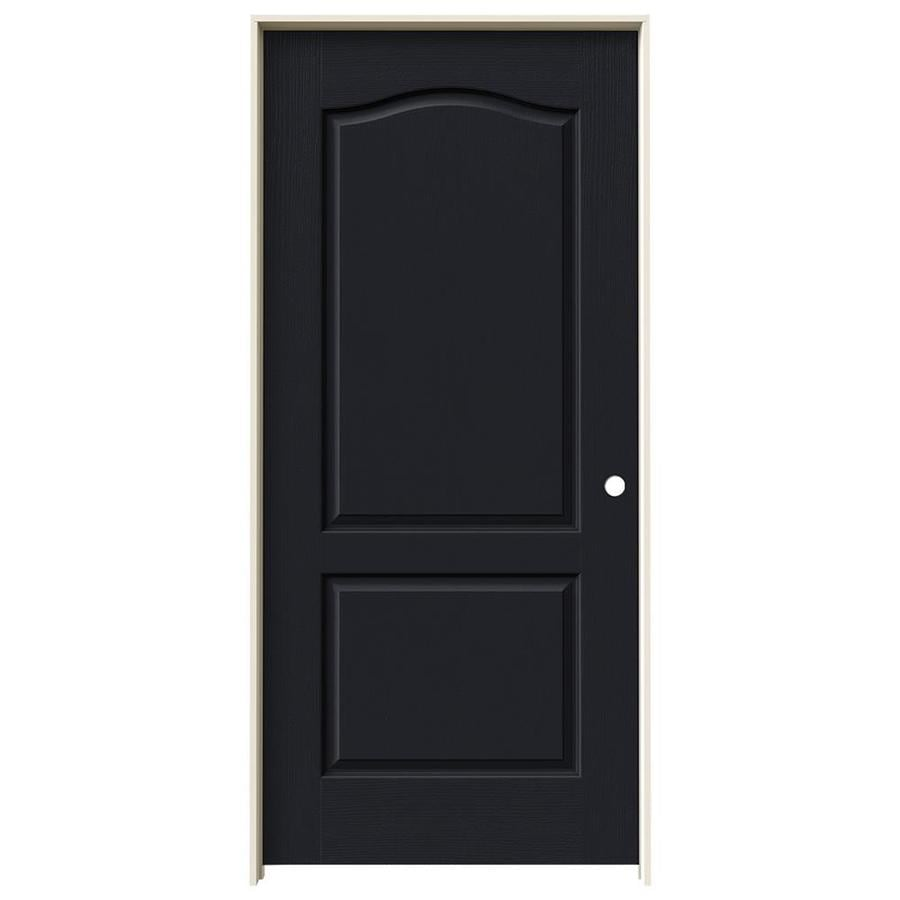 JELD-WEN Midnight Prehung Hollow Core 2-Panel Arch Top Interior Door (Common: 36-in x 80-in; Actual: 37.562-in x 81.688-in)