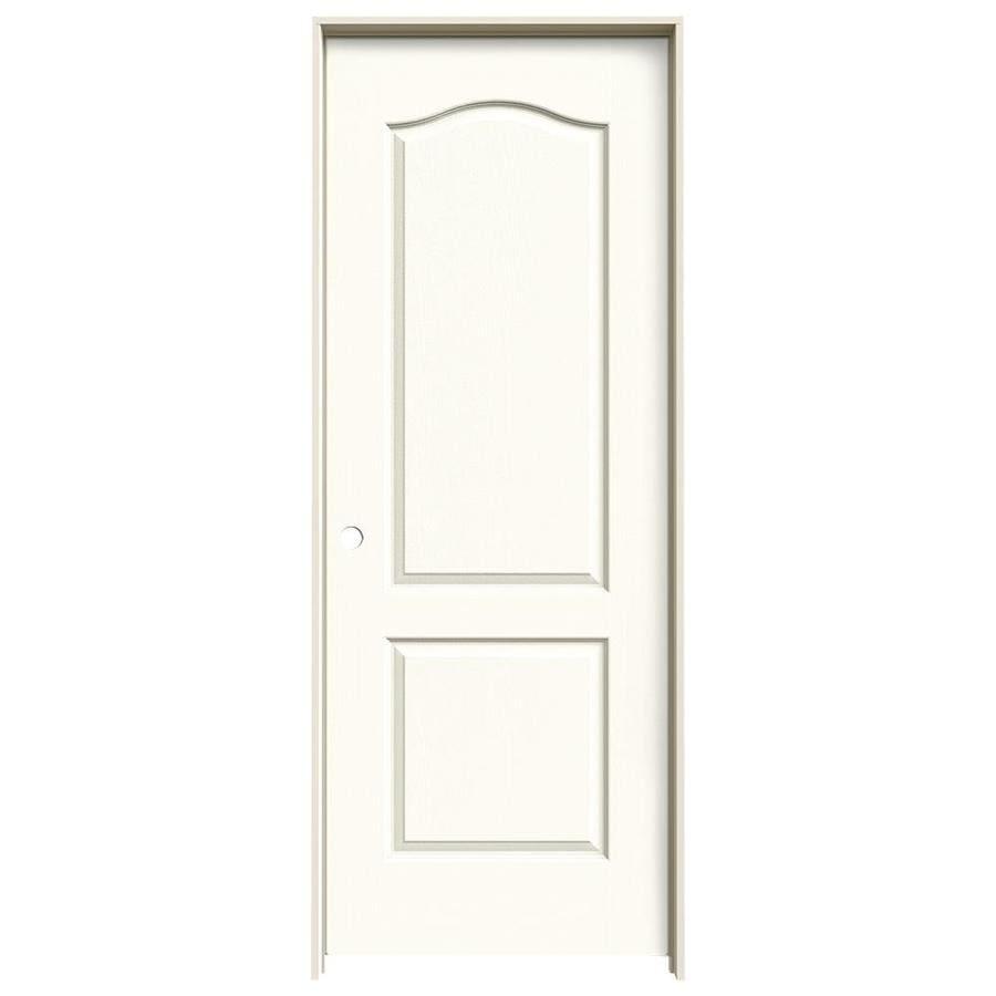 JELD-WEN White Prehung Solid Core 2-Panel Arch Top Interior Door (Common: 32-in x 80-in; Actual: 33.562-in x 81.688-in)