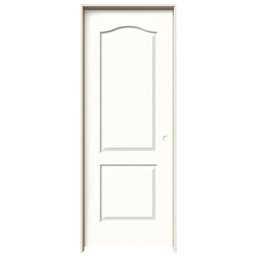 JELD-WEN Snow Storm Prehung Solid Core 2-Panel Arch Top Interior Door (Common: 24-in x 80-in; Actual: 25.562-in x 81.688-in)