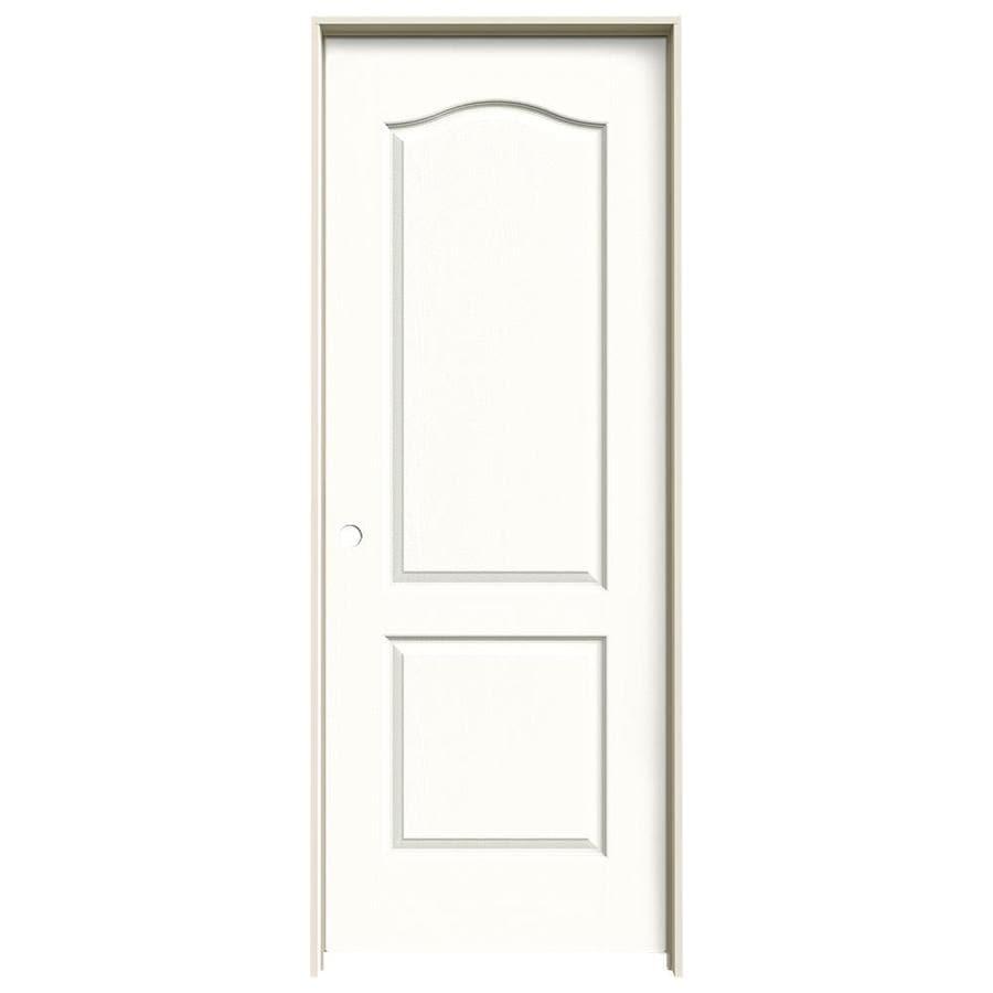 JELD-WEN Camden Snow Storm Solid Core Molded Composite Single Prehung Interior Door (Common: 30-in x 80-in; Actual: 31.5620-in x 81.6880-in)