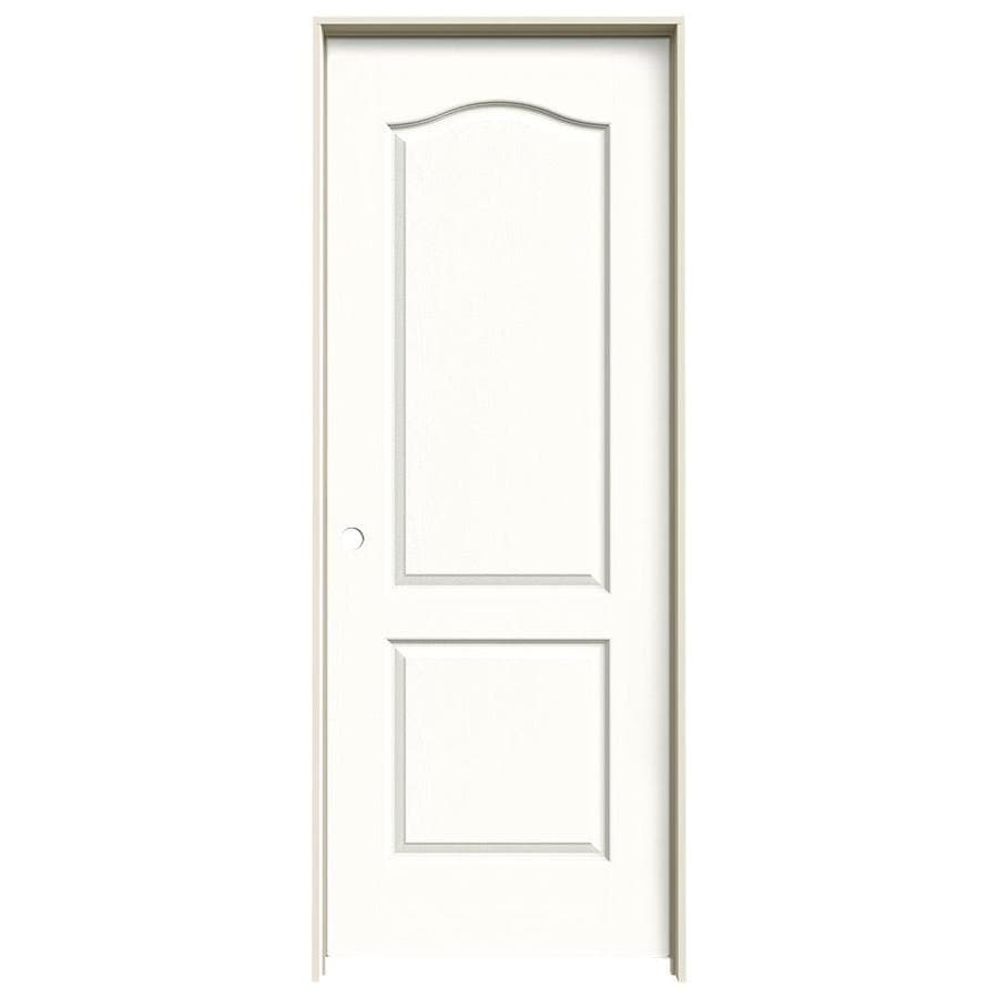JELD-WEN Snow Storm 2-panel Arch Top Single Prehung Interior Door (Common: 32-in x 80-in; Actual: 33.562-in x 81.688-in)