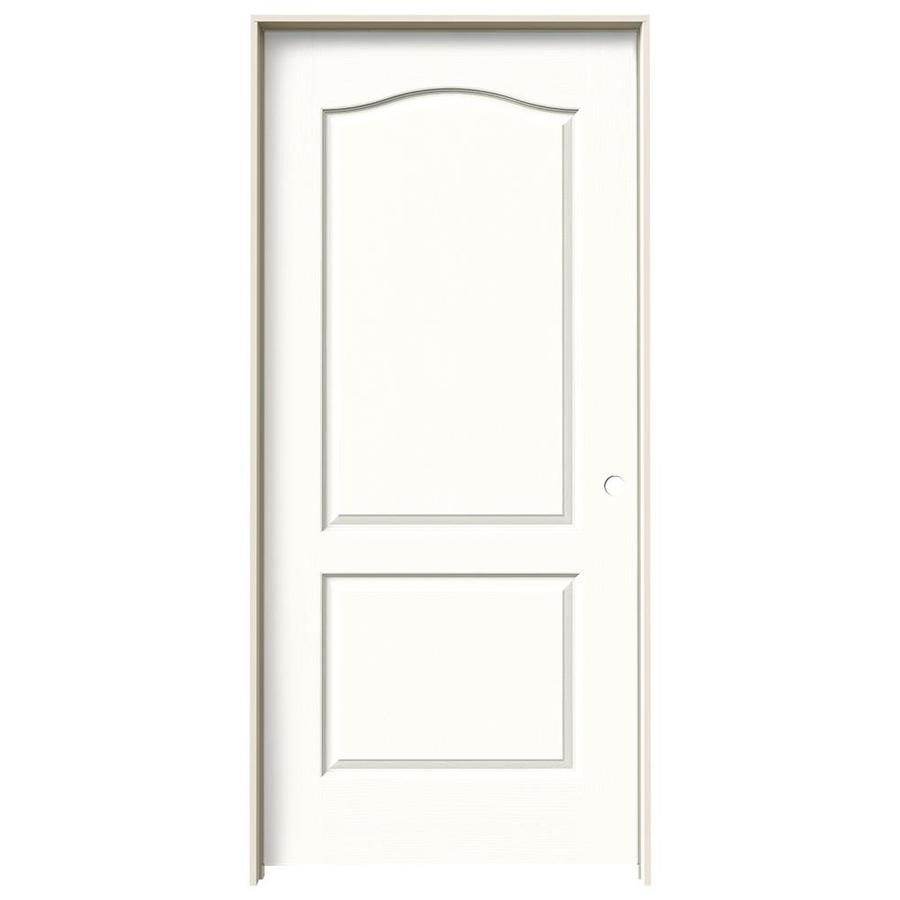 JELD-WEN Snow Storm Prehung Solid Core 2-Panel Arch Top Interior Door (Common: 36-in x 80-in; Actual: 37.562-in x 81.688-in)