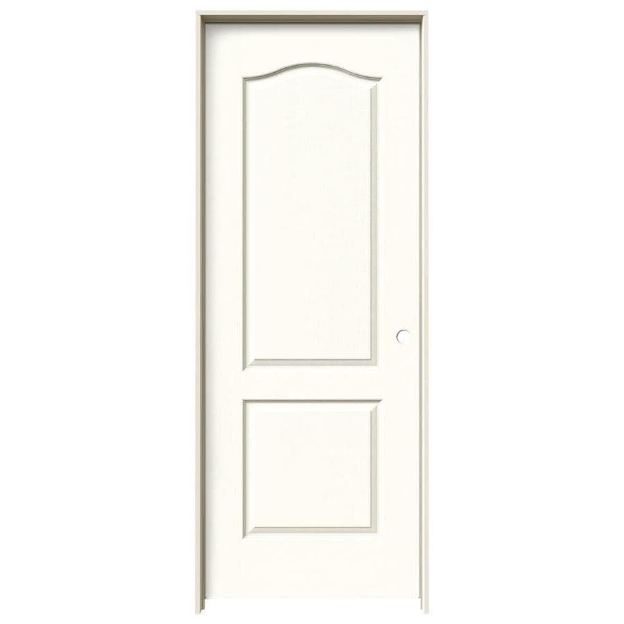 JELD-WEN Moonglow Prehung Solid Core 2-Panel Arch Top Interior Door (Common: 30-in x 80-in; Actual: 31.562-in x 81.688-in)