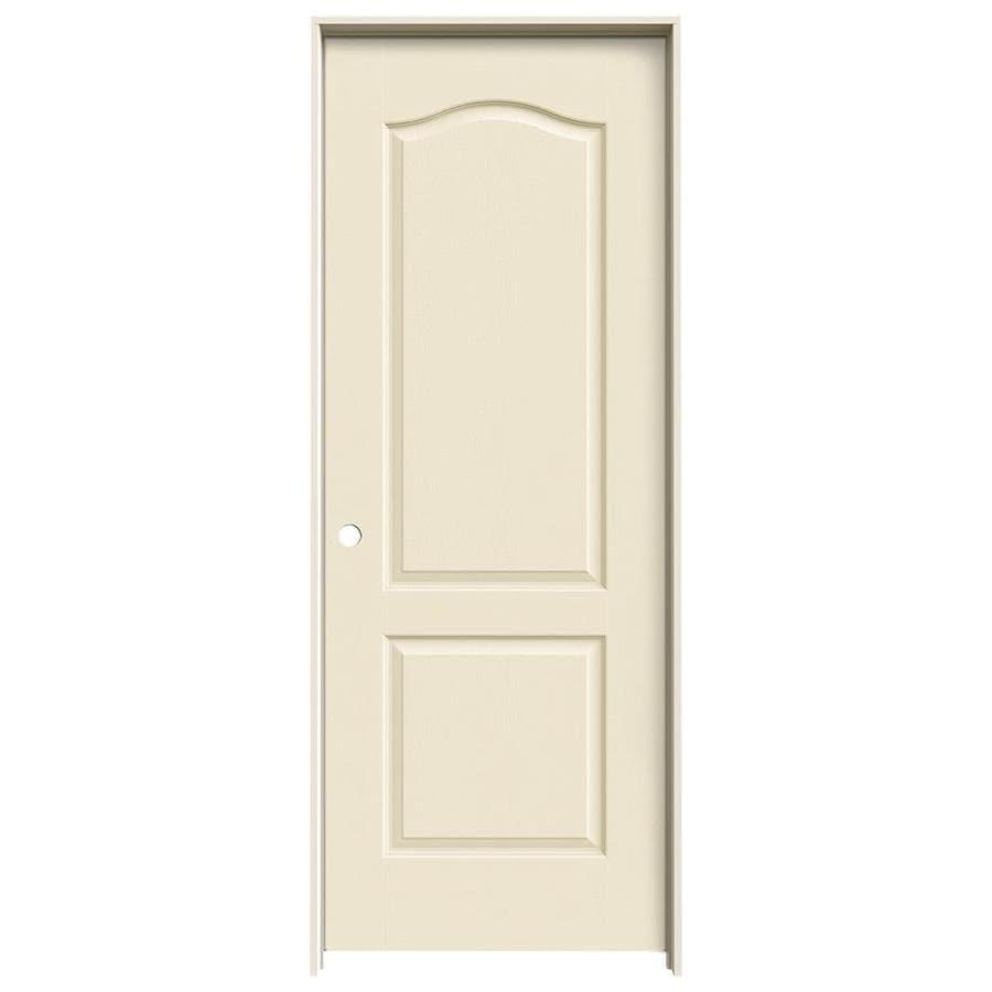 JELD-WEN Camden Cream-N-Sugar Solid Core Molded Composite Single Prehung Interior Door (Common: 28-in x 80-in; Actual: 29.562-in x 81.688-in)