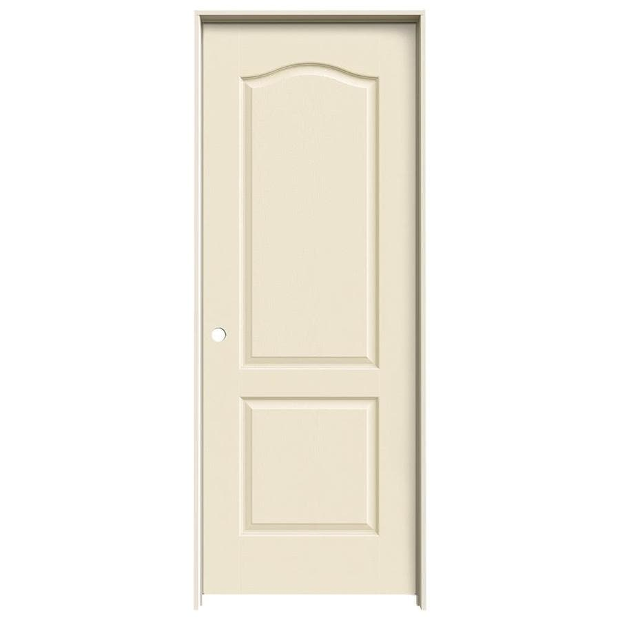 JELD-WEN Camden Cream-N-Sugar Solid Core Molded Composite Single Prehung Interior Door (Common: 30-in x 80-in; Actual: 31.562-in x 81.688-in)