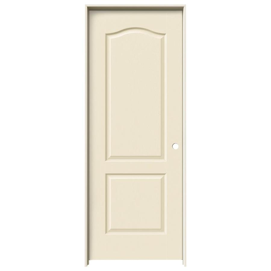 JELD-WEN Cream-N-Sugar Prehung Solid Core 2-Panel Arch Top Interior Door (Common: 30-in x 80-in; Actual: 31.562-in x 81.688-in)