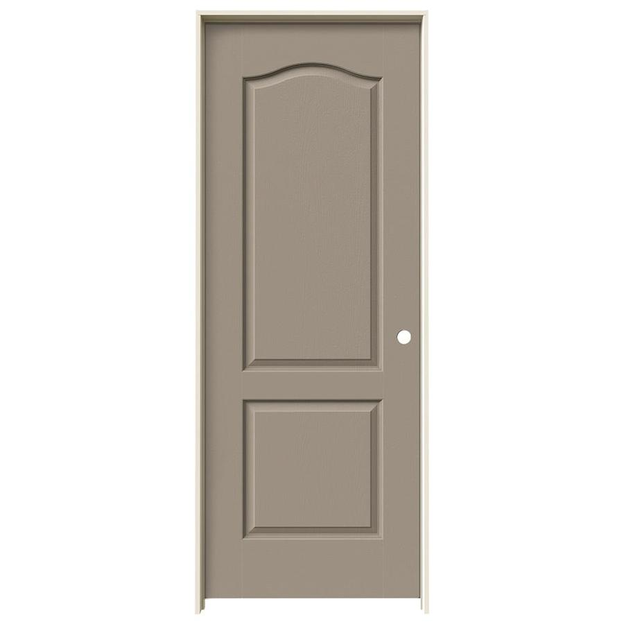 JELD-WEN Sand Piper Prehung Solid Core 2-Panel Arch Top Interior Door (Common: 24-in x 80-in; Actual: 25.562-in x 81.688-in)