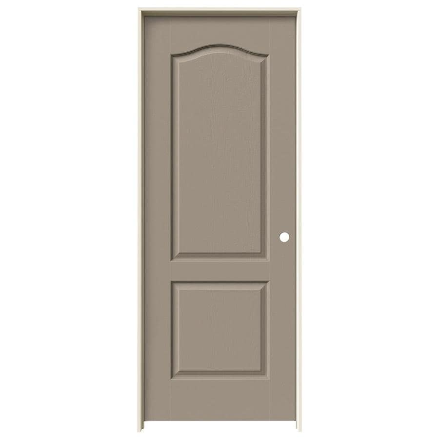 JELD-WEN Sand Piper 2-panel Arch Top Single Prehung Interior Door (Common: 28-in x 80-in; Actual: 29.562-in x 81.688-in)