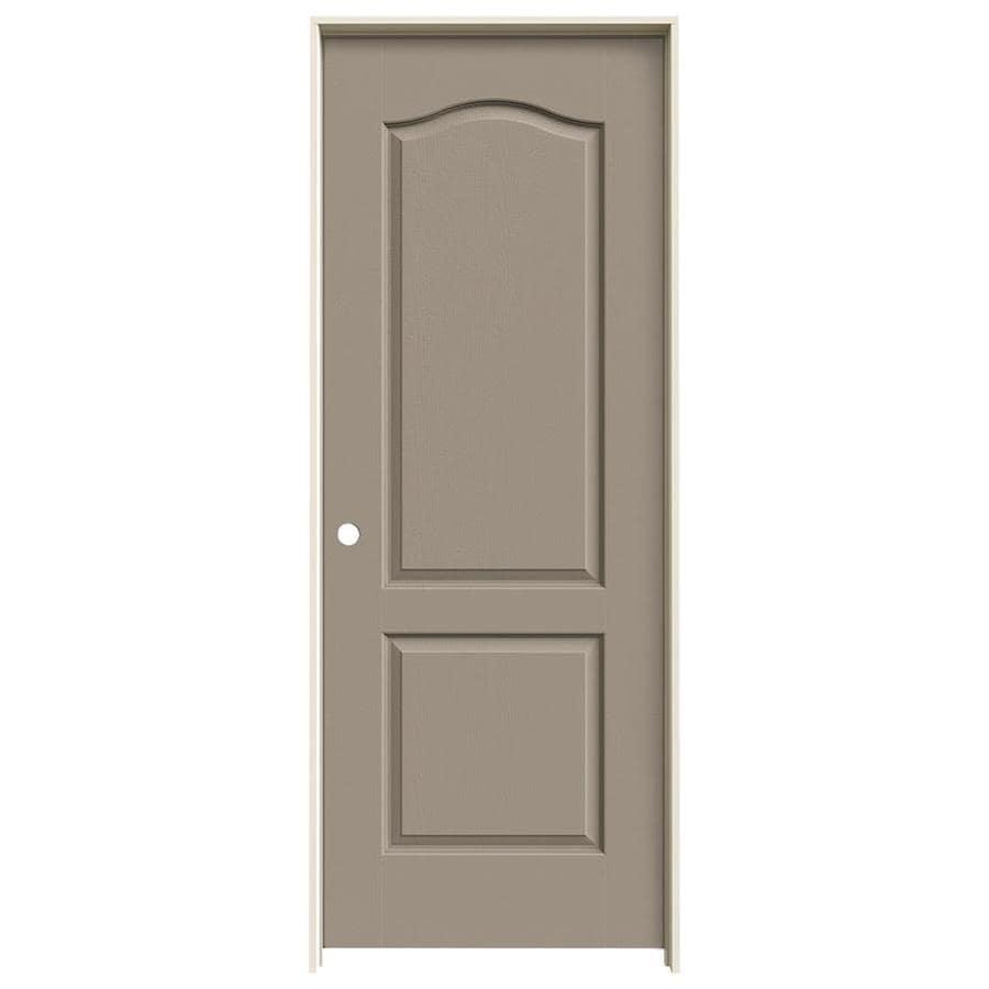 JELD-WEN Camden Sand Piper Solid Core Molded Composite Single Prehung Interior Door (Common: 30-in x 80-in; Actual: 31.562-in x 81.688-in)