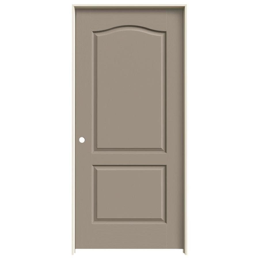 JELD-WEN Sand Piper Prehung Solid Core 2-Panel Arch Top Interior Door (Common: 36-in x 80-in; Actual: 37.562-in x 81.688-in)