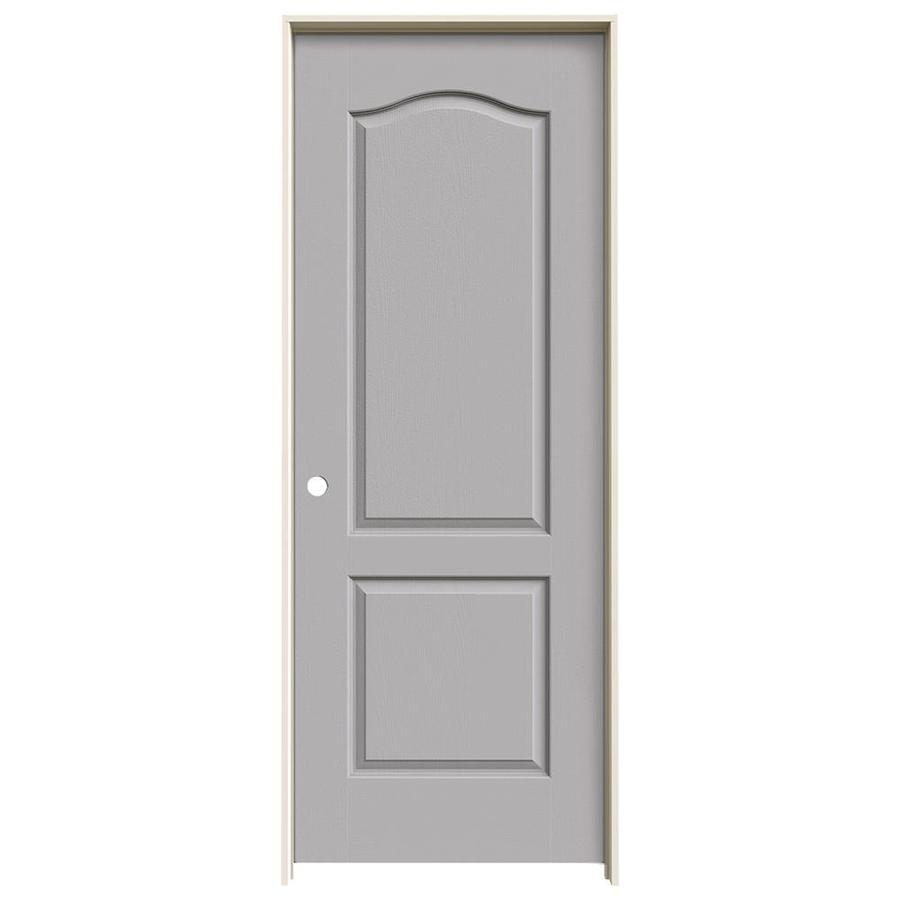 JELD-WEN Camden Driftwood Single Prehung Interior Door (Common: 24-in x 80-in; Actual: 25.5620-in x 81.6880-in)