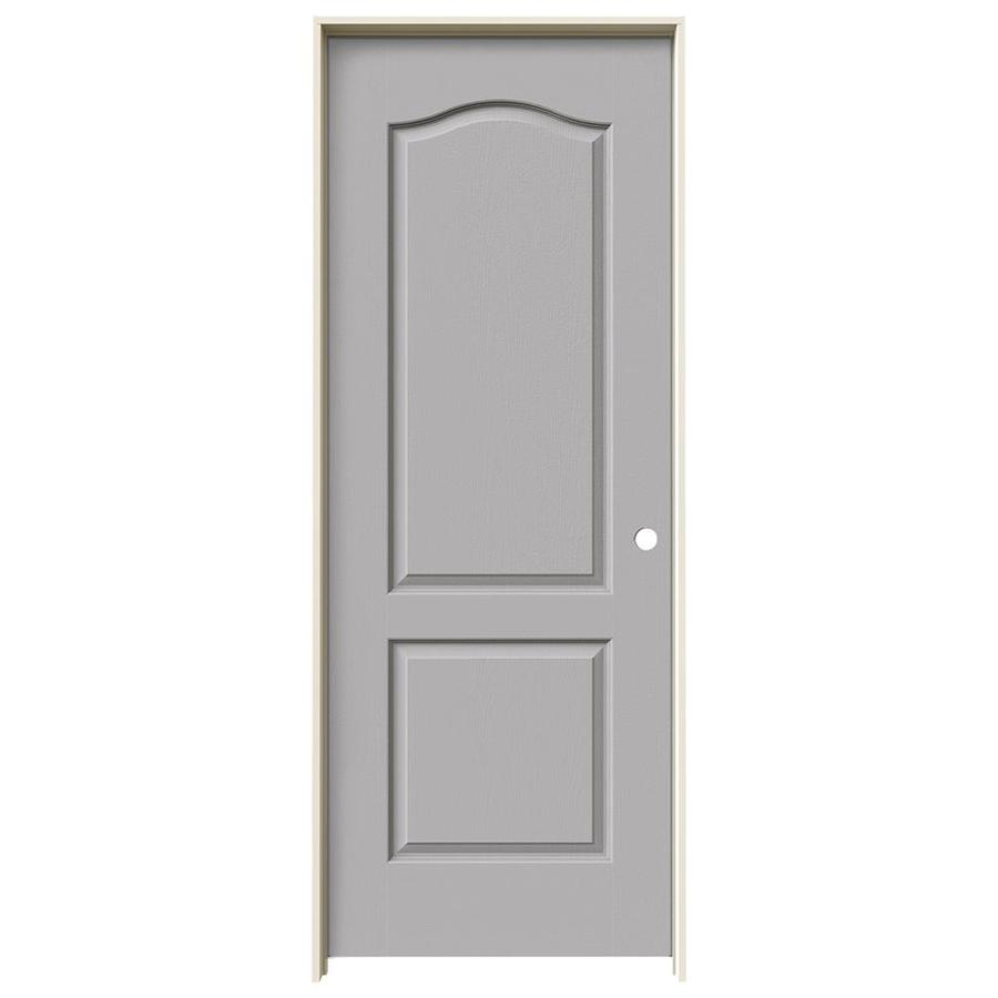 JELD-WEN Driftwood 2-panel Arch Top Single Prehung Interior Door (Common: 32-in x 80-in; Actual: 33.562-in x 81.688-in)