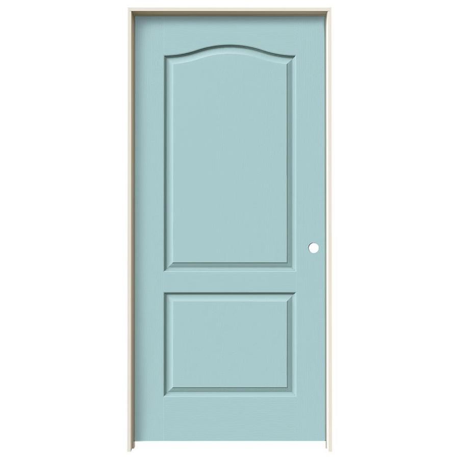JELD-WEN Camden Sea Mist Solid Core Molded Composite Single Prehung Interior Door (Common: 36-in x 80-in; Actual: 37.5620-in x 81.6880-in)