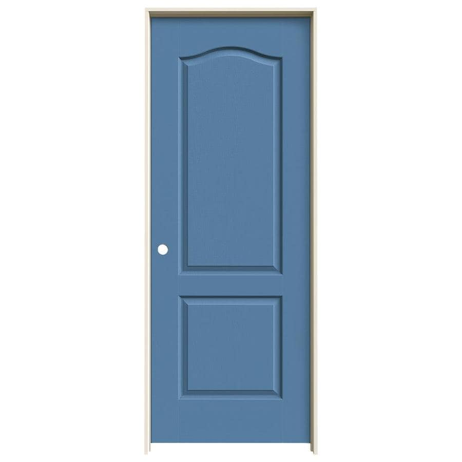Shop Jeld Wen Blue Heron 2 Panel Arch Top Single Prehung Interior Door Common 24 In X 80 In