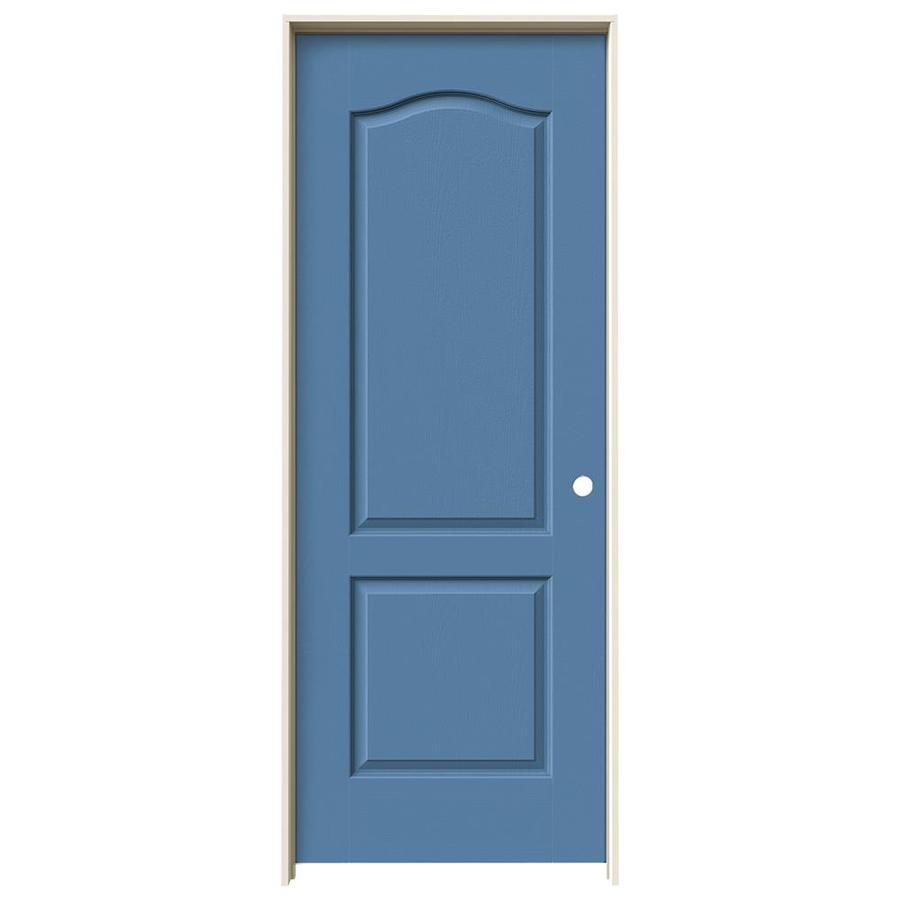 JELD-WEN Camden Blue Heron Solid Core Molded Composite Single Prehung Interior Door (Common: 30-in x 80-in; Actual: 31.562-in x 81.688-in)