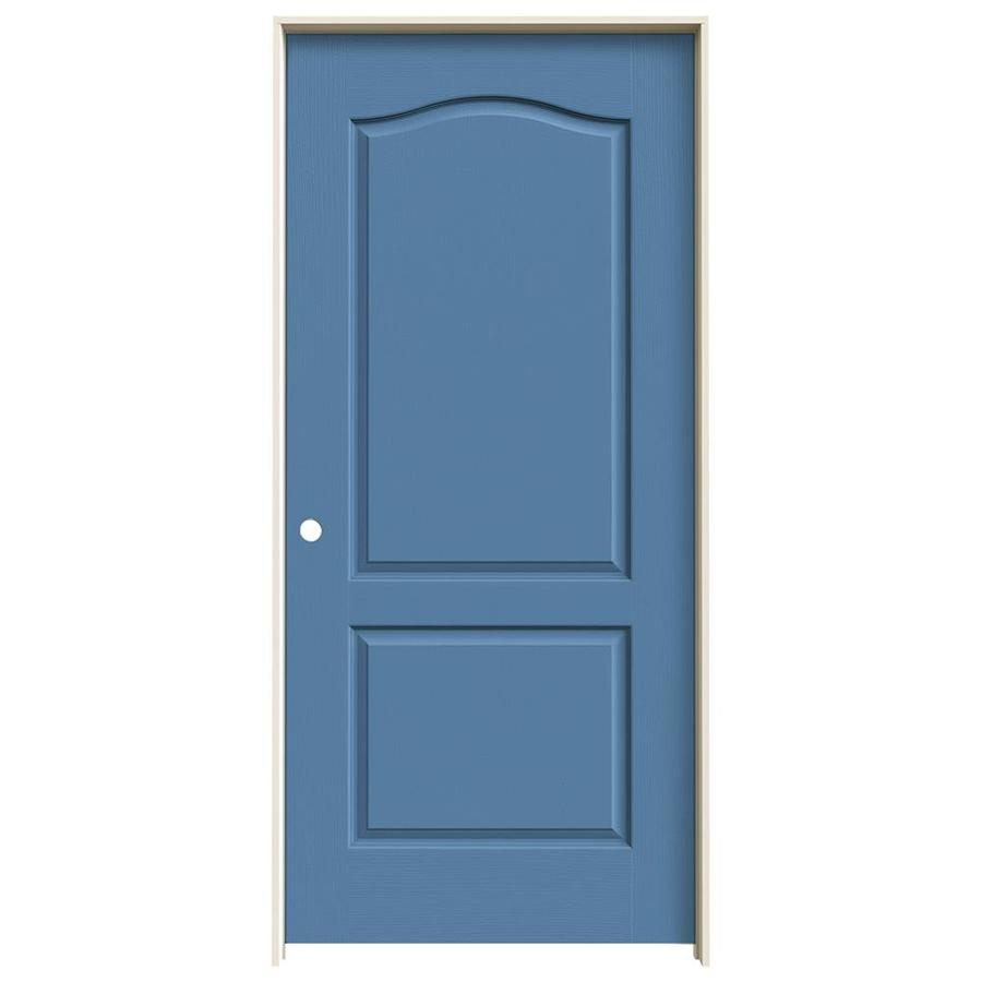 JELD-WEN Camden Blue Heron Solid Core Molded Composite Single Prehung Interior Door (Common: 36-in x 80-in; Actual: 37.562-in x 81.688-in)