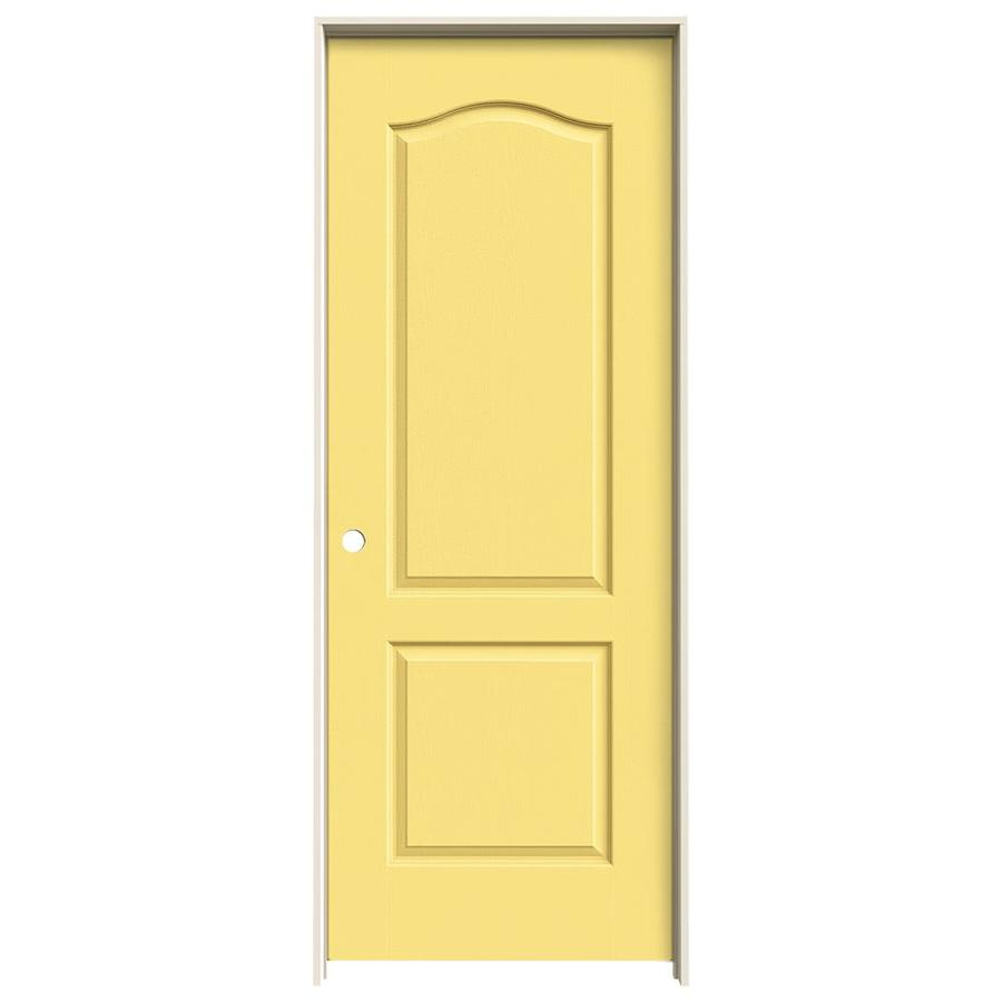 JELD-WEN Marigold Prehung Solid Core 2-Panel Arch Top Interior Door (Common: 28-in x 80-in; Actual: 29.562-in x 81.688-in)