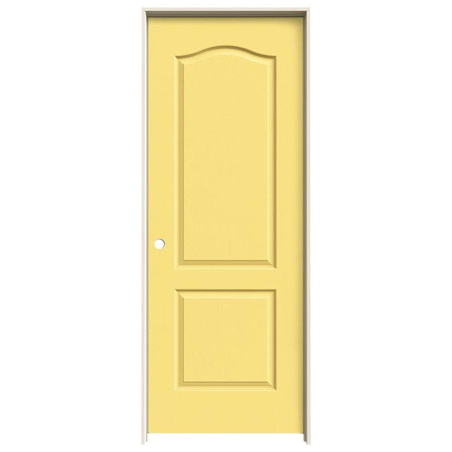 JELD-WEN Marigold Prehung Solid Core 2-Panel Arch Top Interior Door (Common: 30-in x 80-in; Actual: 31.562-in x 81.688-in)