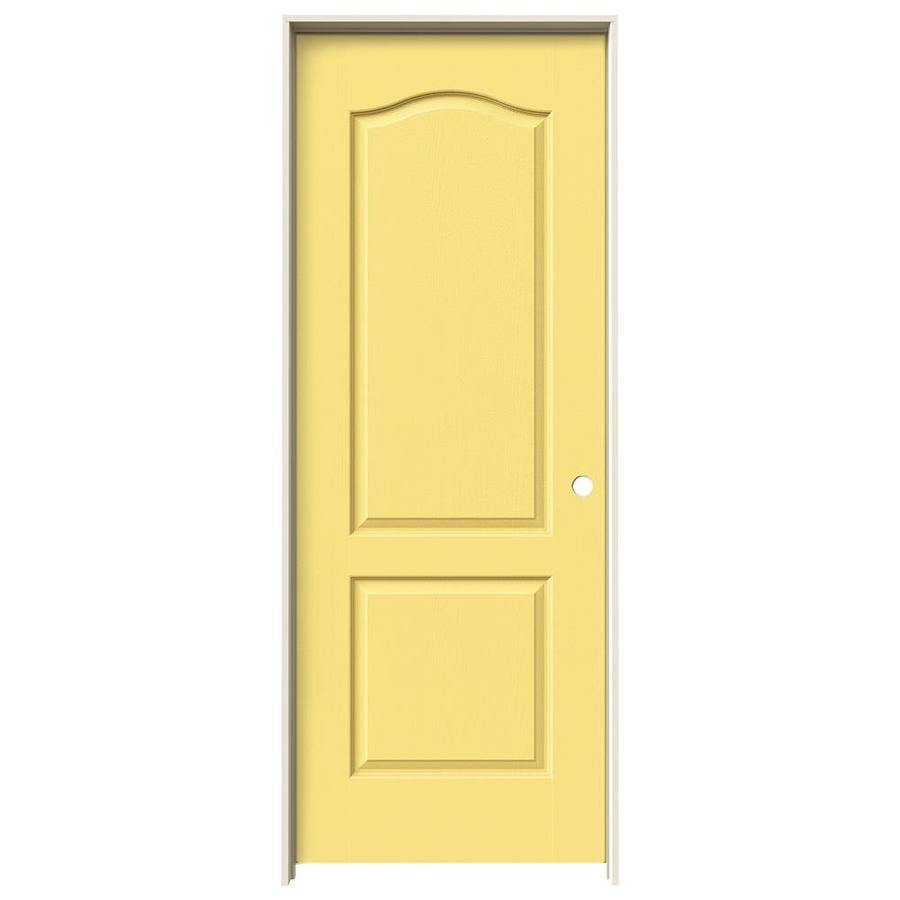 JELD-WEN Marigold Prehung Solid Core 2-Panel Arch Top Interior Door (Common: 32-in x 80-in; Actual: 33.562-in x 81.688-in)