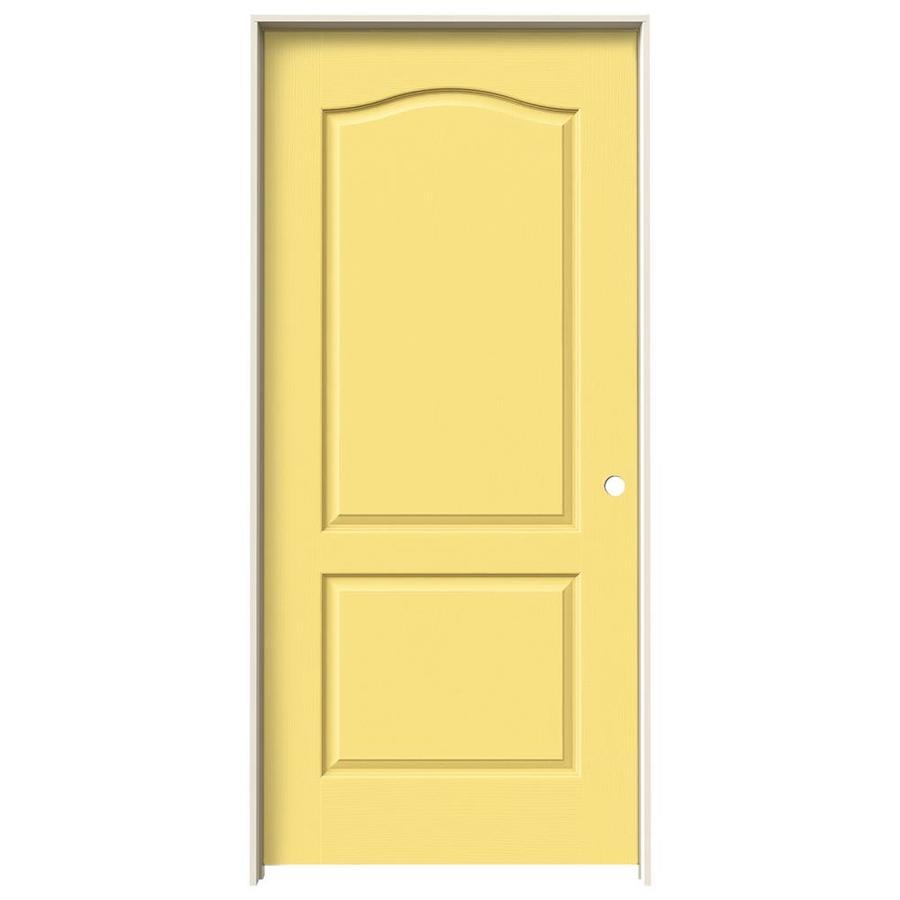 JELD-WEN Camden Marigold Single Prehung Interior Door (Common: 36-in x 80-in; Actual: 37.562-in x 81.688-in)