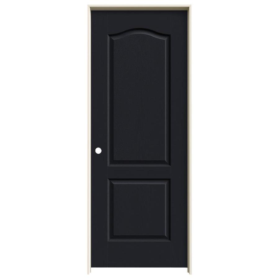 JELD-WEN Midnight Prehung Solid Core 2-Panel Arch Top Interior Door (Common: 28-in x 80-in; Actual: 29.562-in x 81.688-in)