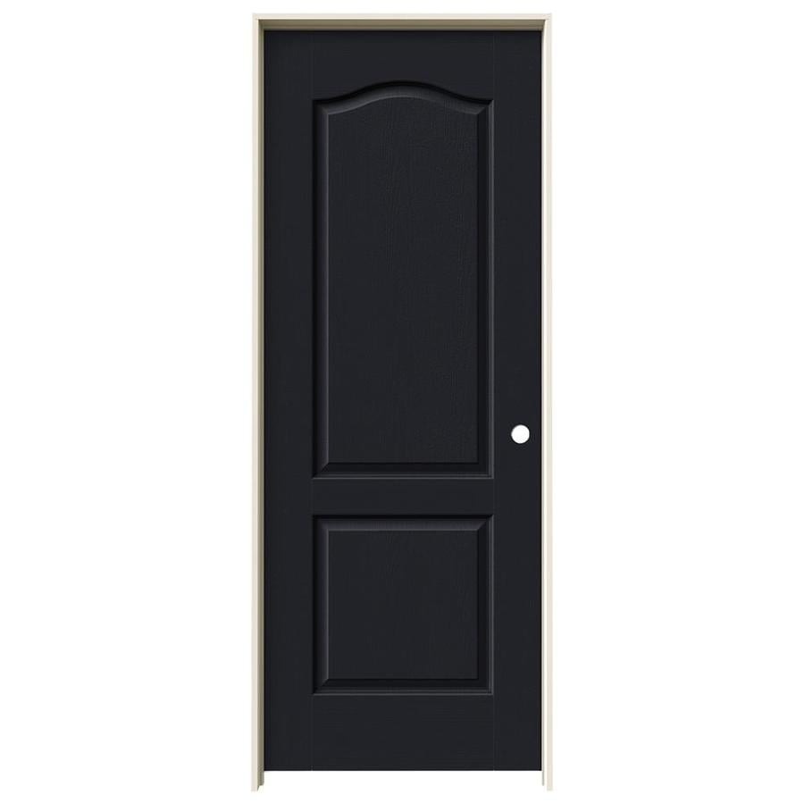 JELD-WEN Camden Midnight Solid Core Molded Composite Single Prehung Interior Door (Common: 30-in x 80-in; Actual: 31.562-in x 81.688-in)