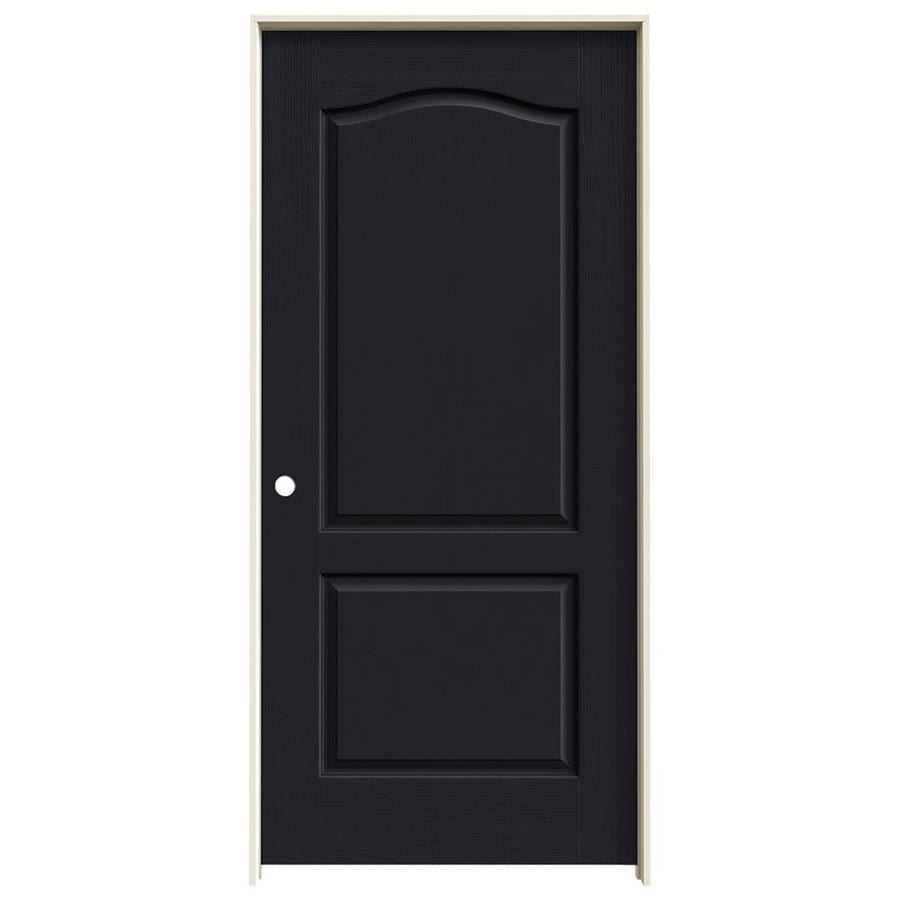 JELD-WEN Camden Midnight Solid Core Molded Composite Single Prehung Interior Door (Common: 36-in x 80-in; Actual: 37.562-in x 81.688-in)