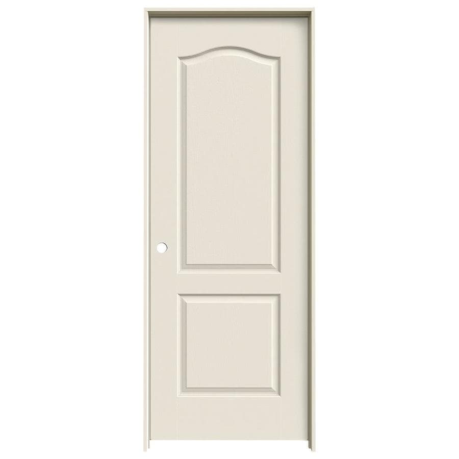 JELD-WEN Camden Primed Solid Core Molded Composite Single Prehung Interior Door (Common: 32-in x 80-in; Actual: 33.562-in x 81.688-in)