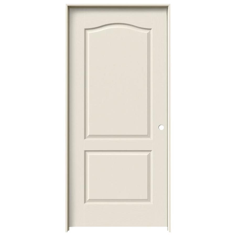 JELD-WEN Camden Primed Solid Core Molded Composite Single Prehung Interior Door (Common: 36-in x 80-in; Actual: 37.562-in x 81.688-in)