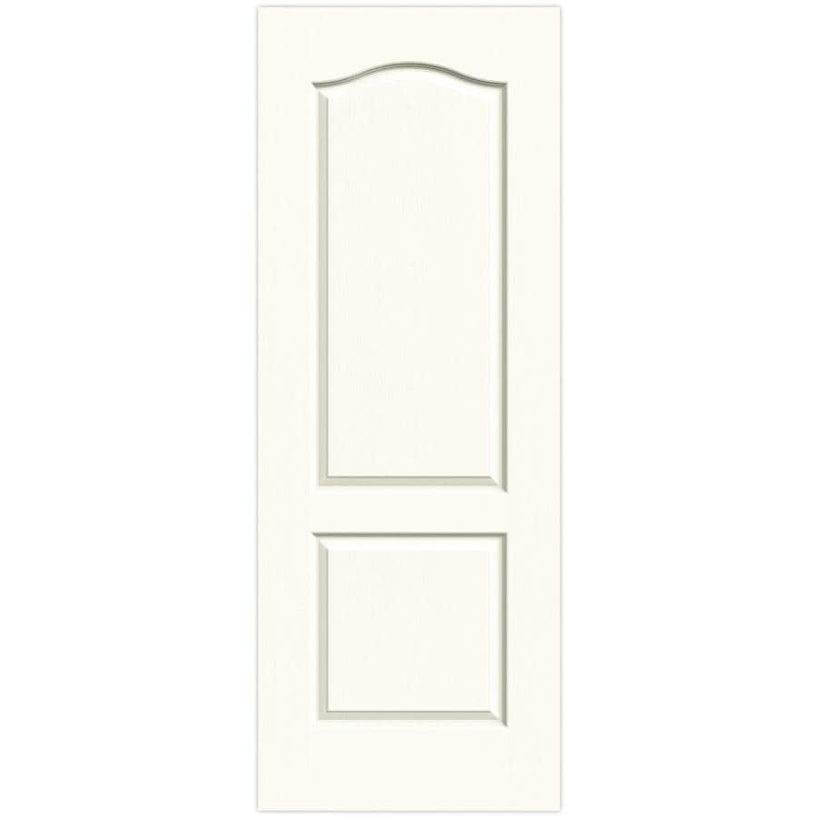 JELD-WEN White Solid Core 2-Panel Arch Top Slab Interior Door (Common: 24-in x 80-in; Actual: 24-in x 80-in)
