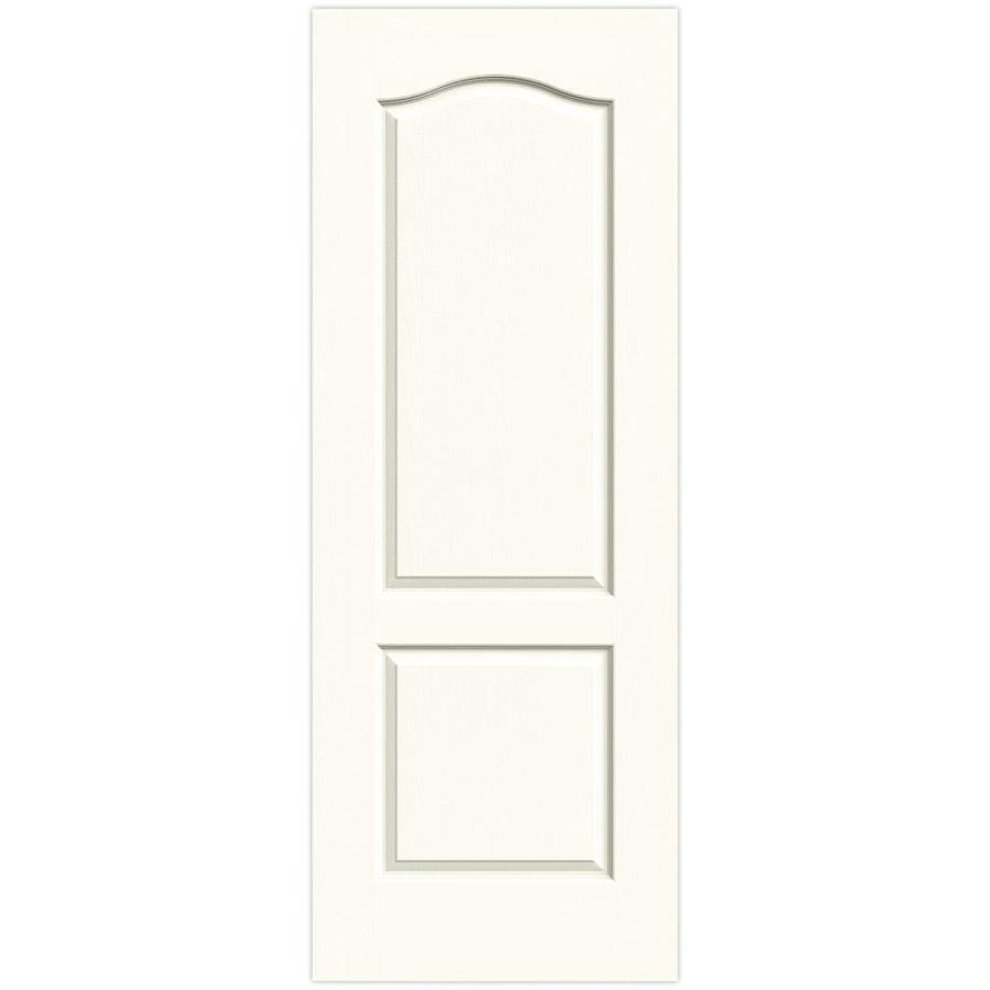 Shop Jeld Wen Camden White 2 Panel Arch Top Solid Core Molded Composite Slab Door Common 32 In