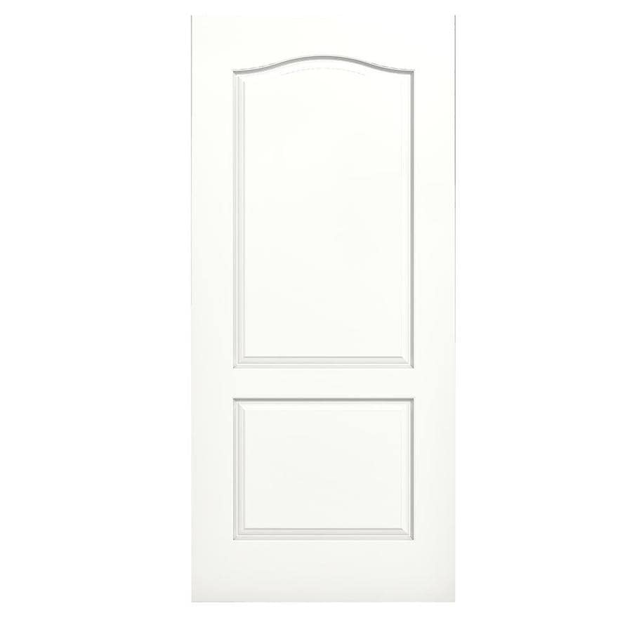 JELD-WEN Snow Storm Solid Core 2-Panel Arch Top Slab Interior Door (Common: 36-in x 80-in; Actual: 36-in x 80-in)