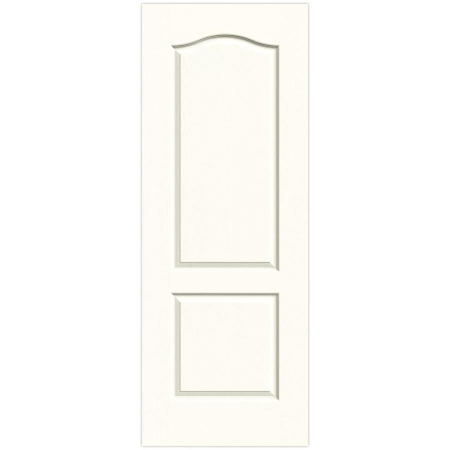 JELD-WEN Moonglow Solid Core 2-Panel Arch Top Slab Interior Door (Common: 24-in x 80-in; Actual: 24-in x 80-in)