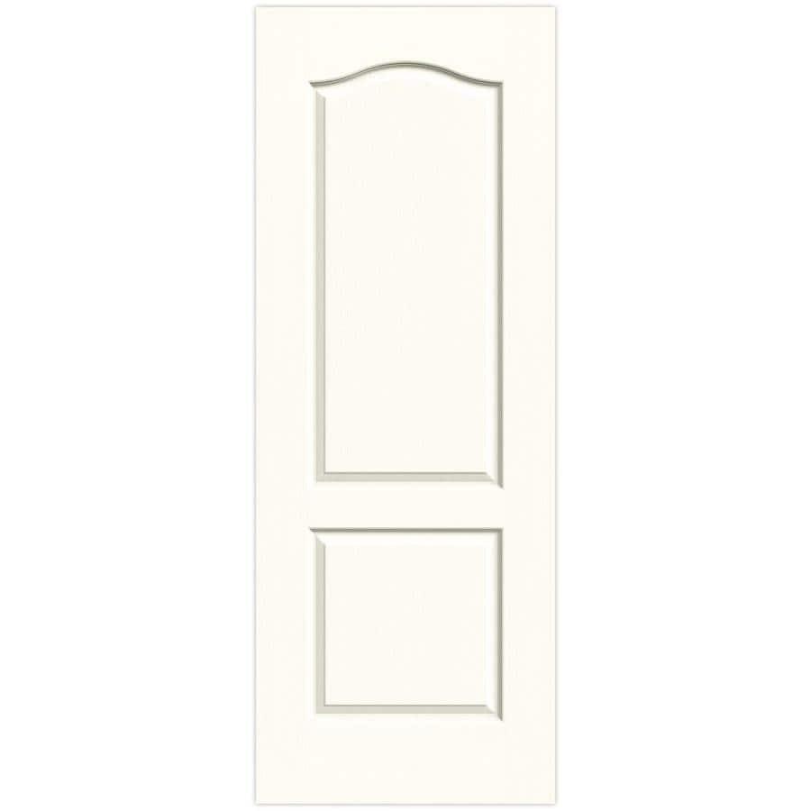 JELD-WEN Moonglow Solid Core 2-Panel Arch Top Slab Interior Door (Common: 30-in x 80-in; Actual: 30-in x 80-in)