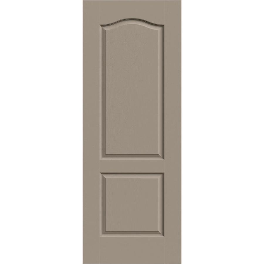 JELD-WEN Sand Piper Solid Core 2-Panel Arch Top Slab Interior Door (Common: 28-in x 80-in; Actual: 28-in x 80-in)