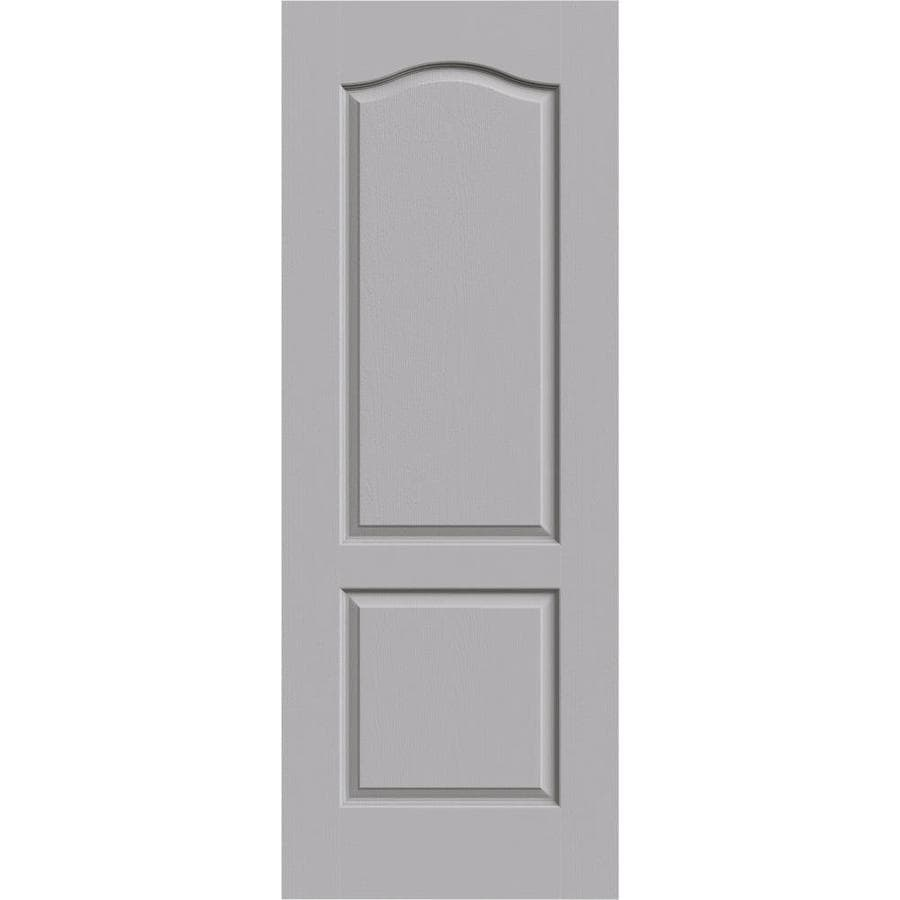 JELD-WEN Driftwood Solid Core 2-Panel Arch Top Slab Interior Door (Common: 30-in x 80-in; Actual: 30-in x 80-in)