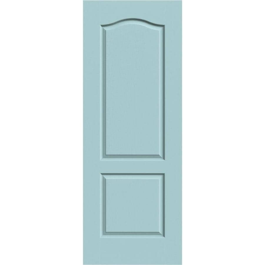 JELD-WEN Sea Mist Solid Core 2-Panel Arch Top Slab Interior Door (Common: 28-in x 80-in; Actual: 28-in x 80-in)