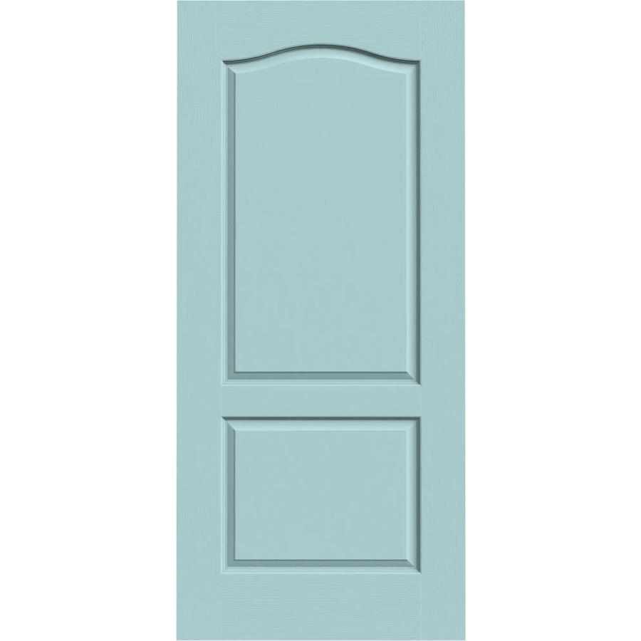 JELD-WEN Sea Mist Solid Core 2-Panel Arch Top Slab Interior Door (Common: 36-in x 80-in; Actual: 36-in x 80-in)