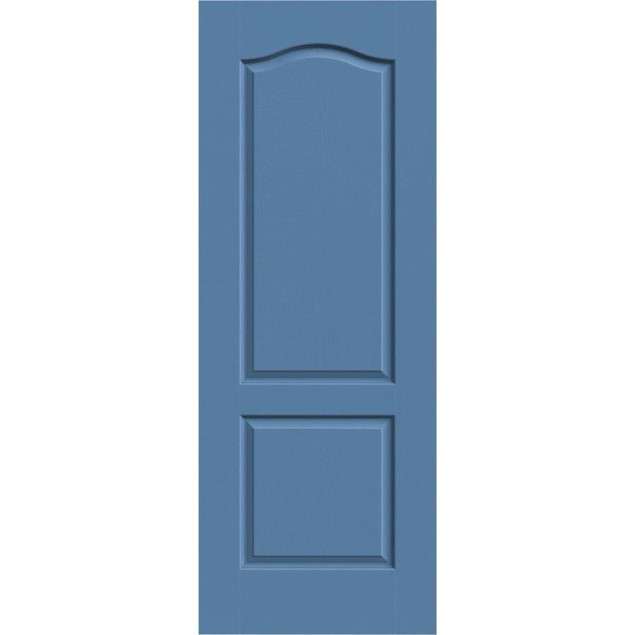 JELD-WEN Blue Heron Solid Core 2-Panel Arch Top Slab Interior Door (Common: 24-in x 80-in; Actual: 24-in x 80-in)