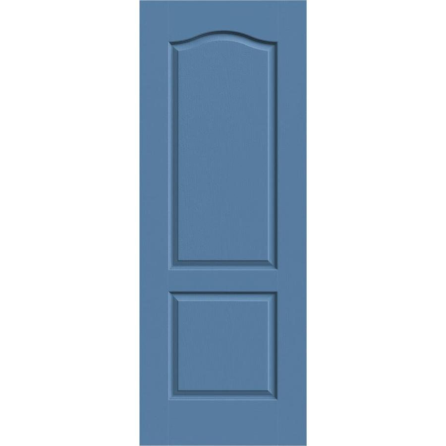 JELD-WEN Camden Blue Heron Solid Core Molded Composite Slab Interior Door (Common: 28-in x 80-in; Actual: 28-in x 80-in)