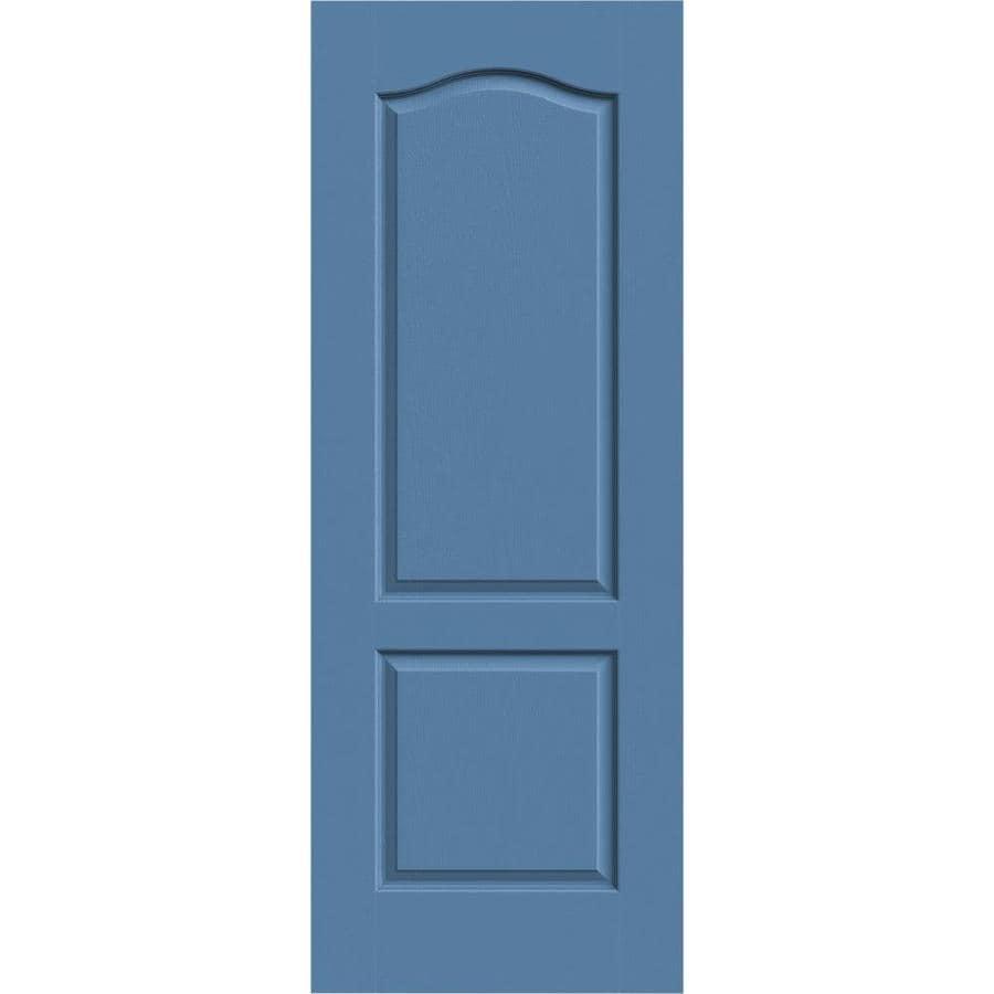 JELD-WEN Camden Blue Heron Slab Interior Door (Common: 32-in x 80-in; Actual: 32-in x 80-in)