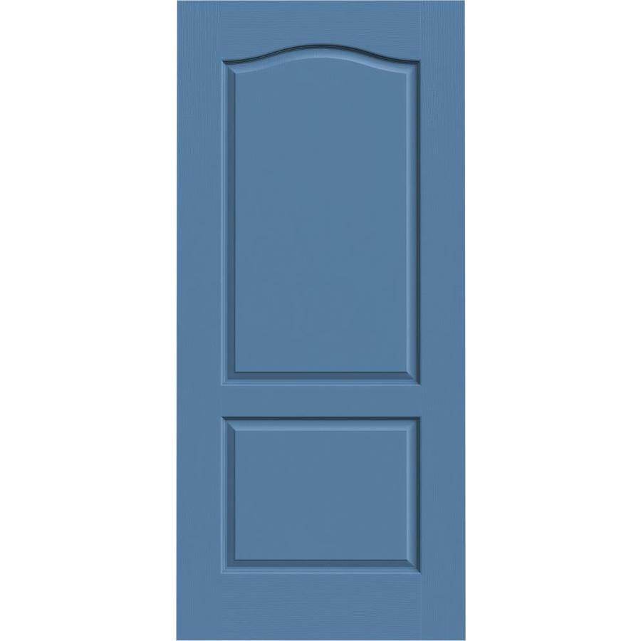 JELD-WEN Camden Blue Heron Slab Interior Door (Common: 36-in x 80-in; Actual: 36-in x 80-in)