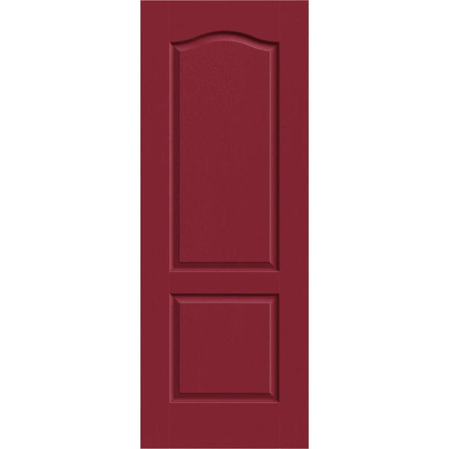 JELD-WEN Barn Red Solid Core 2-Panel Arch Top Slab Interior Door (Common: 24-in x 80-in; Actual: 24-in x 80-in)