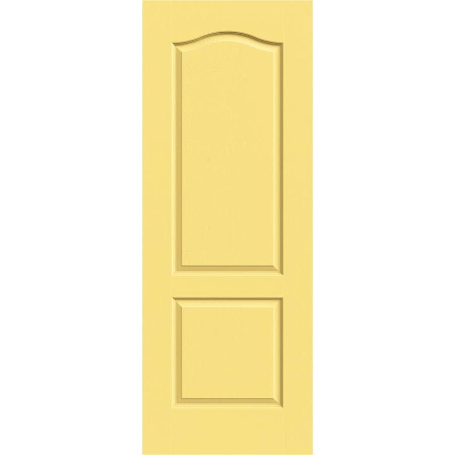 JELD-WEN Marigold Solid Core 2-Panel Arch Top Slab Interior Door (Common: 30-in x 80-in; Actual: 30-in x 80-in)