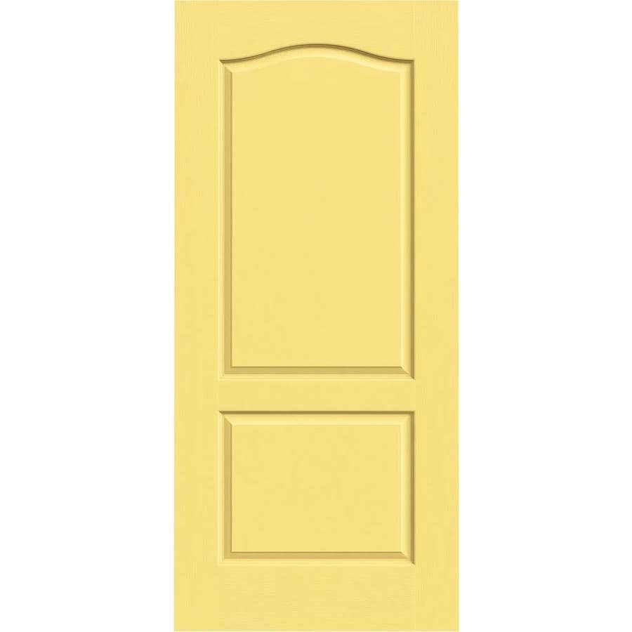 Shop Jeld Wen Marigold Solid Core 2 Panel Arch Top Slab Interior Door Common 36 In X 80 In